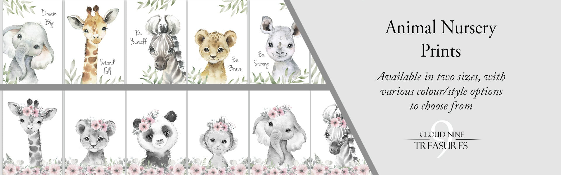 animal nursery prints