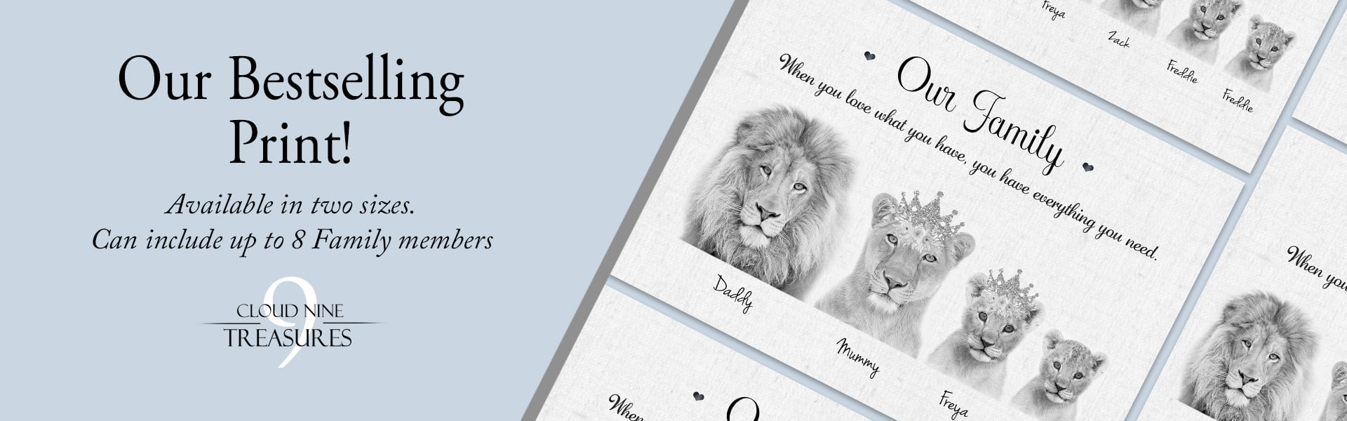 lion family banner